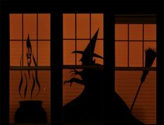 all things paper: Spooky Halloween Silhouettes