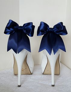 Wedding Shoe Clips, MANY COLORS AVAILABLE , Bridal Shoe Clips, Satin Bow Shoe Clips, Shoe Clips for Wedding Shoes, Bridal Shoes, Womens by ShoeClipsOnly on Etsy