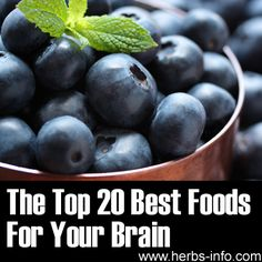 ❤ Top 20 Best Foods for Your Brain ❤