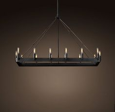 """rectangular chandelier 