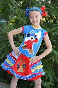 Boutique pageant mickey sorcerer fantasmic by babychloescloset, $165.00
