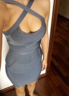 Kup mój przedmiot na #vintedpl http://www.vinted.pl/damska-odziez/krotkie-sukienki/14408517-bandazowa-sukienka-mini-kolor-niebieski