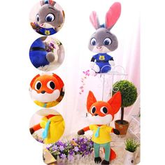 Zootopia 50cm Plush Doll Toys Cartoon Utopia Models Nick Fox Judy Rabbit Best Gift for Children Kids