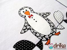 Pinguim em Patch Aplique