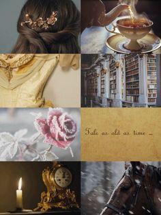 Beauty and the Beast aesthetic Belle Aesthetic, Disney Aesthetic, Princess Aesthetic, Aesthetic Themes, Aesthetic Collage, Aesthetic Pictures, Disney Theme, Cute Disney, Walt Disney