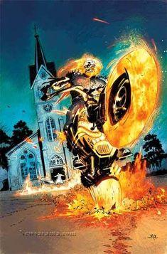 Johnny Blaze - The Ghost Rider Marvel Comics Superheroes, Marvel Heroes, Marvel Characters, Marvel Art, Ghost Rider Johnny Blaze, Ghost Rider Marvel, Comic Book Heroes, Comic Books Art, Dc Anime