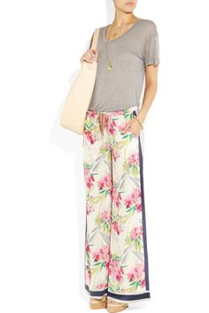 I adore the print of these palazzo pants.  Top of my spring shopping list.