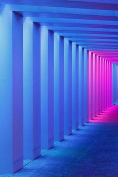 Tunnel vision Herman Kuijer s new light installations for two Dutch underpasses Architecture Wallpaper Magazine Light Art, Neon Lighting, Lighting Design, House Lighting, Lighting Ideas, Rite De Passage, Light Tunnel, Neon Purple, Neon Colors