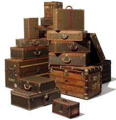 LOUIS VUITTON Vintage Luggage...oh those were the days!!!  Would that we could travel that way today!