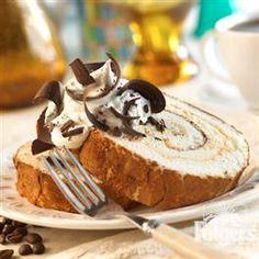 Tiramisu Vanilla Bean Cake Roll