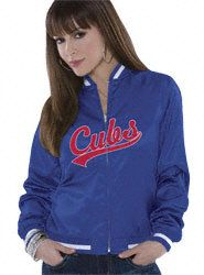 Chicago Cubs Women's Reversible Satin Jacket - by Alyssa Milano