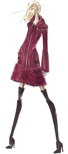 Pamella Roland  ---- Coffee Talks and Cat Walks: Fashion Week Fun: Designer Sketches