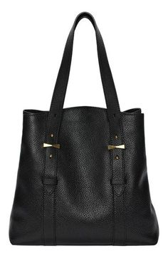 ALEXANDER MCQUEEN 'North South' Leather Shopper. #alexandermcqueen #bags #shoulder bags #hand bags #leather #tote