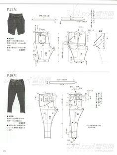 Molderia de pantalones // pants patterns instructions