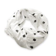Black & White Love Knot Scarf