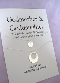 Godmother Gift Necklace Proposal Fairy Be My Solid Sterling Silver Goddaughter
