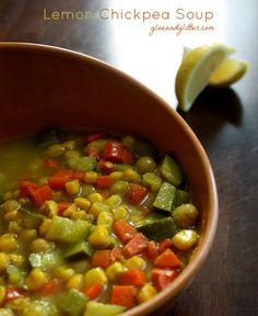 Lemony Garbanzo Bean Soup (crock pot recipe!)
