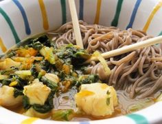 Pho mit Fisch und Soba-Nudeln Pho, Spaghetti, Ethnic Recipes, Carrots, Soba Noodles, Fish, Noodle
