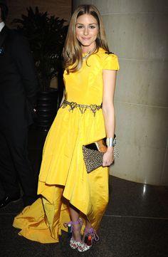 Olivia Palermo. Yellow dress.