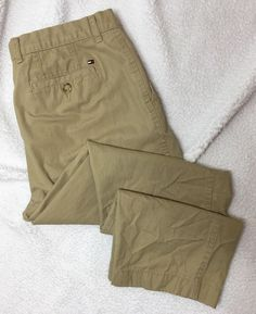 Tommy Hilfiger Mens Size 36x30 Pants Khaki Chino Career Uniform Work Business #TommyHilfiger #KhakisChinos