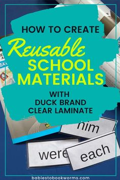 Learn how to makek reusable school materials with Duck® Brand Clear Laminate! Create durable flash cards, bookmarks, and more!