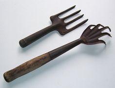 Antique Garden Tools Long Handled Hand Rake by SwanCreekCottage, $38.00 Old Garden Tools, Garden Rake, Garden Items, Garden Soil, Gardening Tools, Potting Sheds, Good Posture, Back Gardens, Growing Plants
