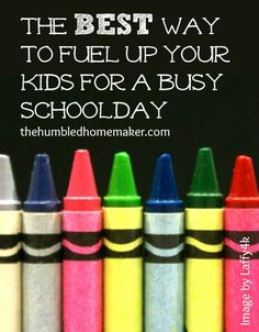 The best way to fuel up your kids for a busy school day