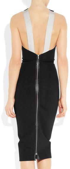Victoria Beckham Stretchcrepe Cutaway Dress in Black