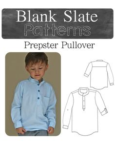 085cf233333 A great basic sewing pattern for boys! The Prepster Pullover PDF Sewing  Pattern by Blank Slate Patterns via lilblueboo.com