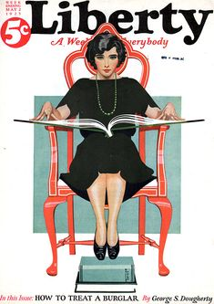 Liberty 1925-05-02      Artist: Coles Phillips  Source: eBay seller ThomasC at American Art Archives, which also has its own wonderful website about American illustrators