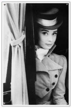 Audrey Hepburn in a Fifties Hat