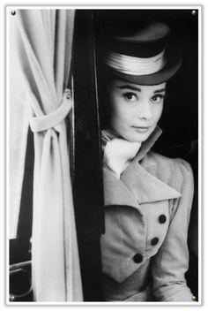 Audrey icon, peace, audrey hepburn, audreyhepburn, period costumes, top hats, coat, eyes, mel ferrer