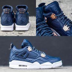 """NEW ARRIVALS: Nike Air Jordan 4 Premium """"Obsidian""""  shop now at kickbackzny.com  men's only"""