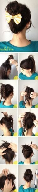 Step by step how to do this cool hair style