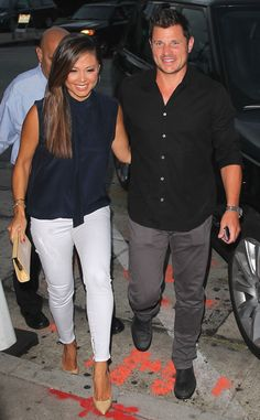 Vanessa & Nick Lachey from The Big Picture: Today's Hot Pics  The adorable couple enjoy a date night in West Hollywood.