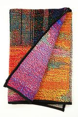 Glitch Textiles produces a range of woven and knit wall hangings and blankets whose patterns are generated using images taken with short circuited cameras and other unorthodox digital techniques, including data visualization aided by the use of tools developed for digital forensics. #art #business #textiles #glitch #gifts