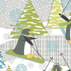 Wilmington Prints, Fabulous Fabrics, Fabric Shop, Haberdashery, Cuddling, Penguins, Flannel, Christmas Crafts, Cotton Fabric