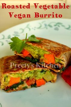 Roasted Vegetable #Vegan Burrito ( Step By Step Pictures)