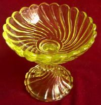 yellow vaseline glass love vintage dishes yellow is hard to find.
