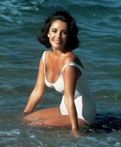 "Actress Elizabeth Taylor in ""Suddenly Last Summer"" (1959). I like her bathing suit"
