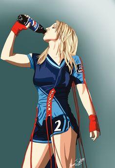 Pepsi / Rowena Jackson  #Art #Britney #BritneySpears #Drawing #Illustration #Music #Pepsi