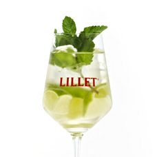 #Lillet #Mint. 4cl LILLET Blanc, 2cl elderberry juice, prosecco, ice-cubes, garnish with mint leaves and lime quarters