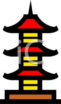Flat Japan Multistory Pagoda Icon Vector By TRIKONA