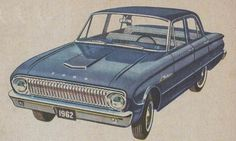 1962 Ford Falcon -- wonder if that's a stock color on the blue.  How would that Chevy copper go with it?