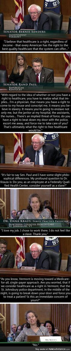 Healthcare: Sanders vs Paul