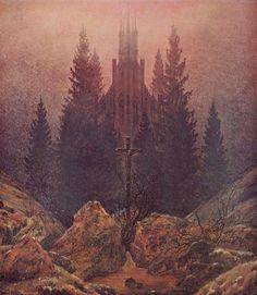Friedrich, Caspar David: Kreuz im Gebirge (Kruzifix im Tannenwald)