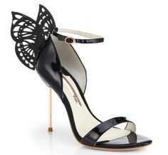 "Sophia Webster ""Flutura"" Butterfly Patent Sandals"