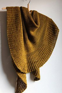Raveller luminen's mara in oak. Mara Shawl pattern by Madelinetosh
