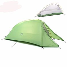 Naturehike 1 Person Tent Silicone or Plaid FabricTent Double-layer C&ing Tent Lightweight Footprint  sc 1 st  Pinterest & Best Lightweight Naturehike 1 Person Backpacking Tent with ...