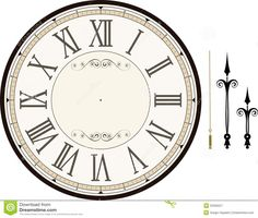 Vintage Clock Face Template - Download From Over 46 Million High Quality Stock…